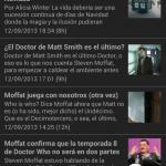 Vista de noticias, versión oscura